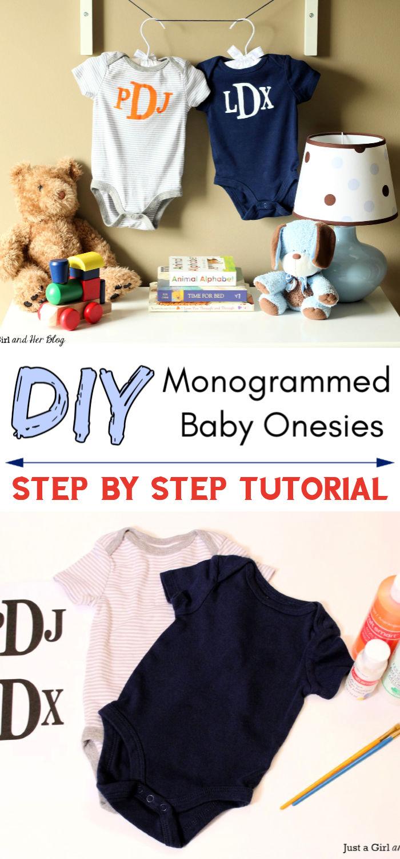 DIY Monogrammed Onesies