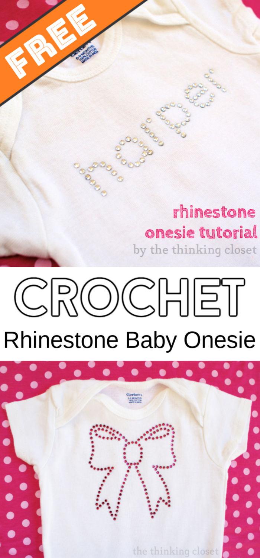 DIY Rhinestone Baby Onesie Step by Step Tutorial