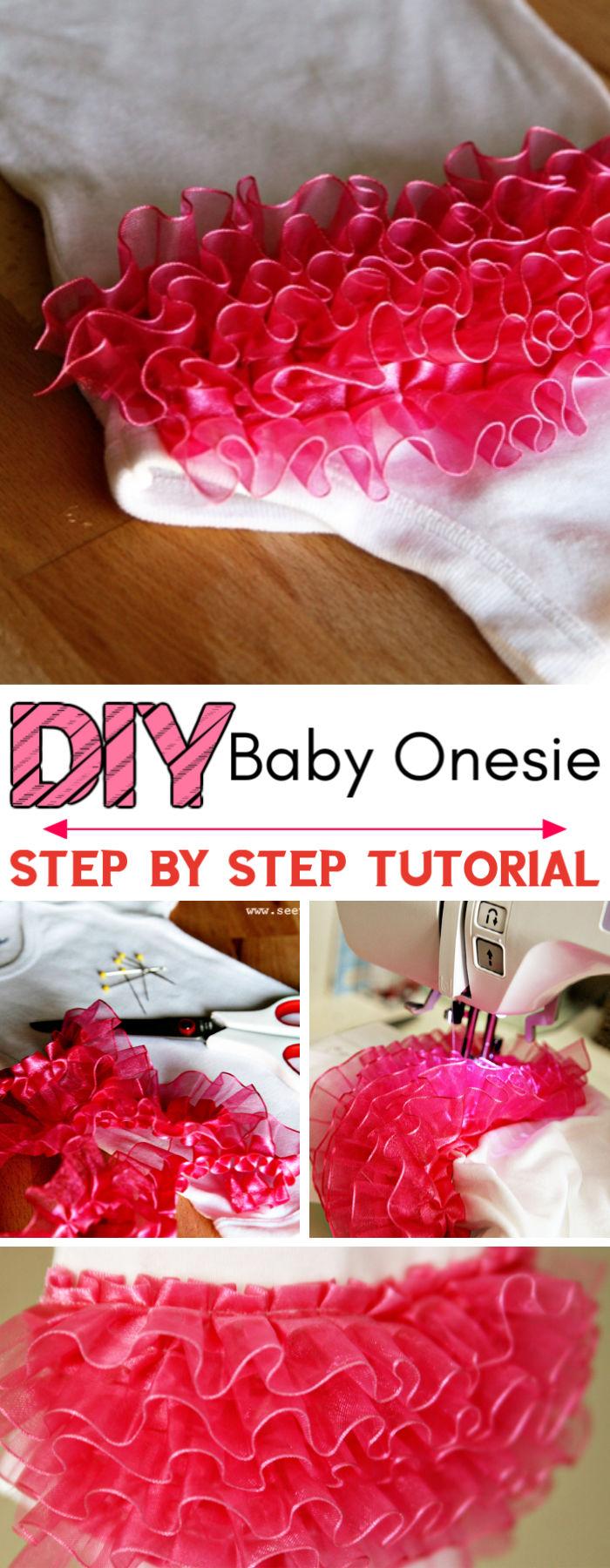 DIY Ruffled Butt Baby Onesie