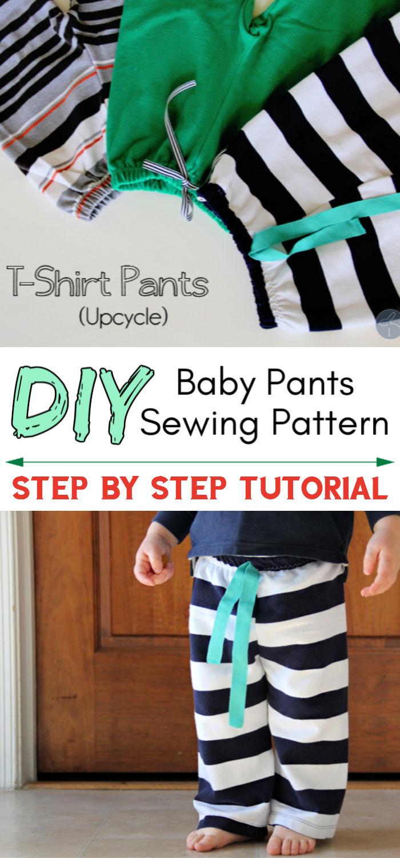 Easiest Baby Pants Free Sewing Pattern