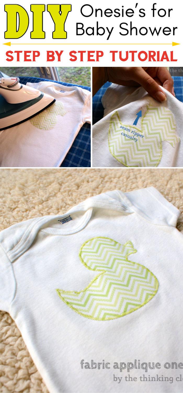 Fabric Applique Onesie Tutorial Free Cut File