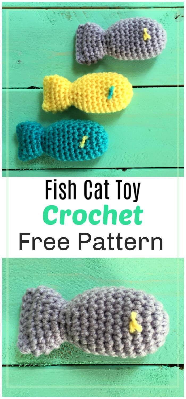 Fish Cat Toy Free Crochet Pattern