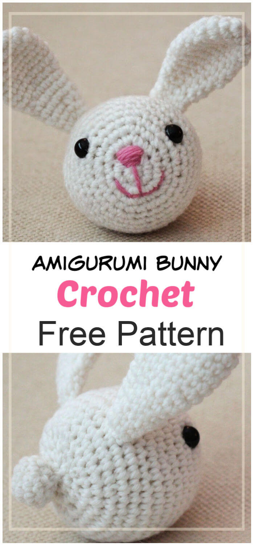 19+ Best Crochet Amigurumi Bunny Toy Free Patterns + Tutorials In 2020   1500x700
