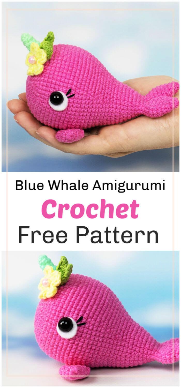 Free Crochet Blue Whale Amigurumi Pattern