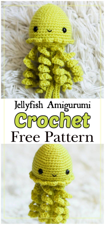 Crochet Jellyfish – 14 Free Crochet Patterns | Crocheted jellyfish ... | 1500x700