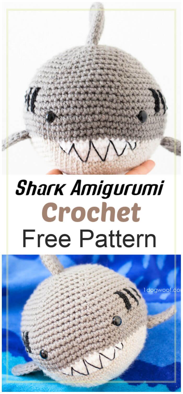 Free Crochet Shark Amigurumi Pattern