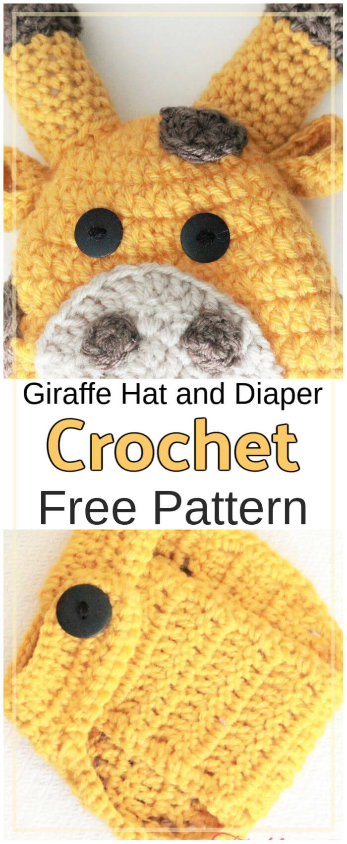 How to Crochet Giraffe Hat and Diaper Cover