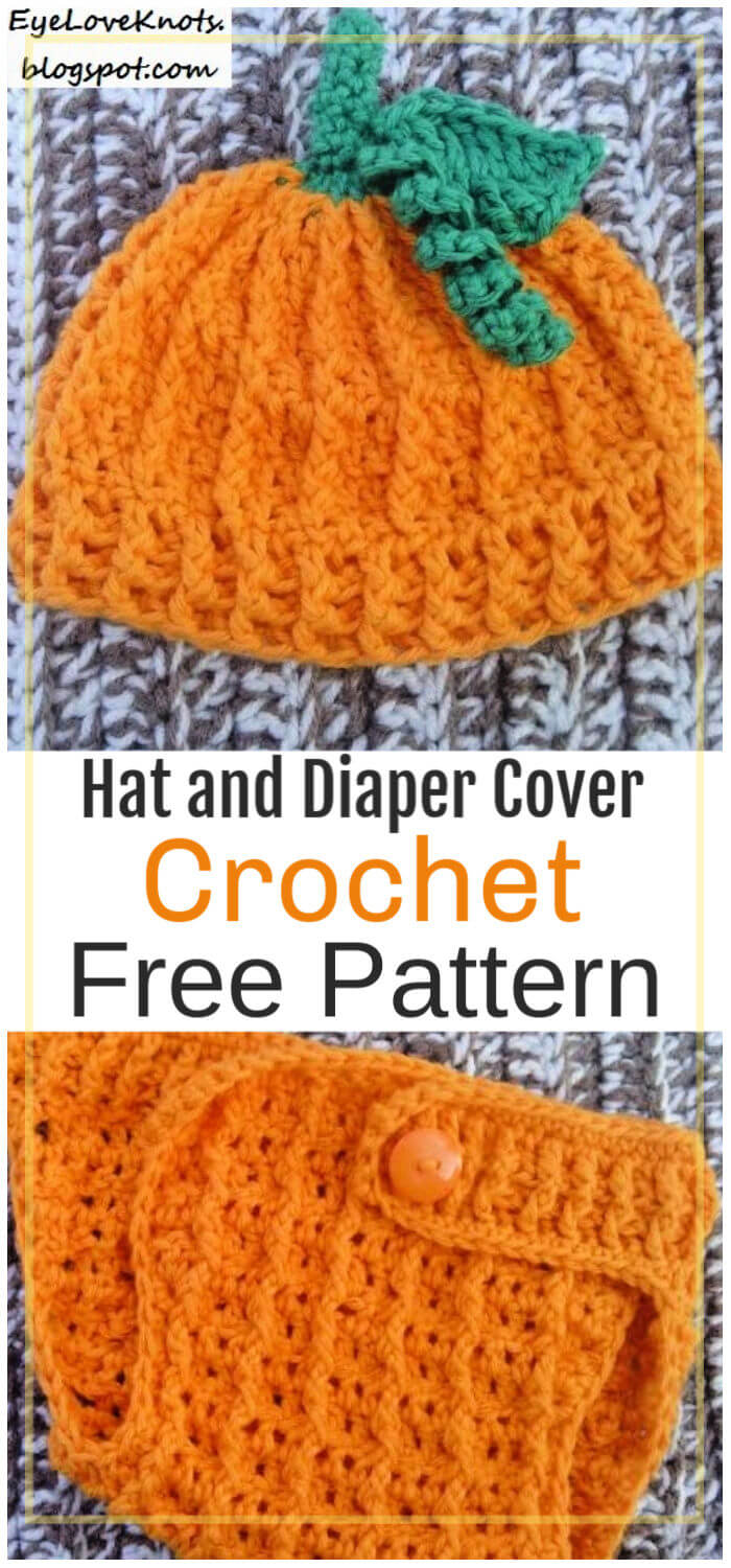 How to Crochet Pumpkin Hat and Diaper Cover