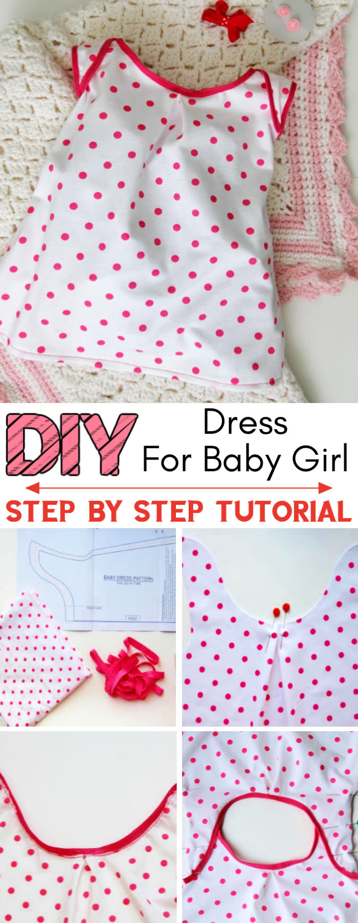 How to Sew a Knit Baby Dress