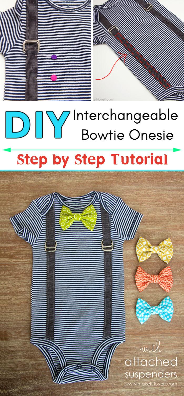 Interchangeable Bowtie Onesie