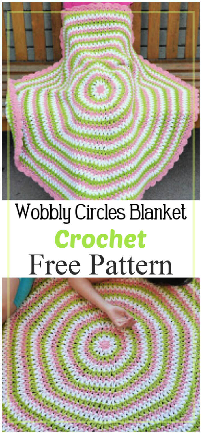 Wobbly Circles Blanket Free Crochet Pattern